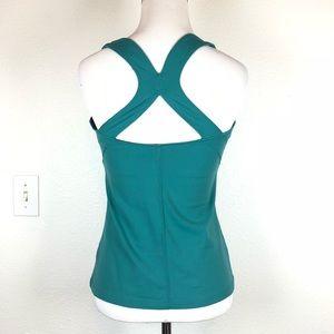 Athleta blue green racer back yoga tank small
